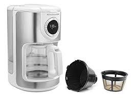 kitchenaid coffee maker clean 5 kitchenaid kcm1202wh 12 cup glass carafe coffee machine kitchenaid coffee maker