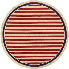 covington nautical stripes red navy 8 ft x 8 ft round indoor