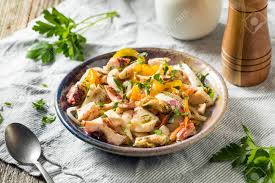 Homemade Cold Seafood Salad With Fish ...