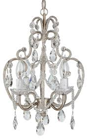 tiffany collection authentic crystal beaded mini swag chandelier lighting with 4 lights
