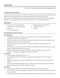 Offshore Resume Objective Superb Offshore Resume Samples Complete