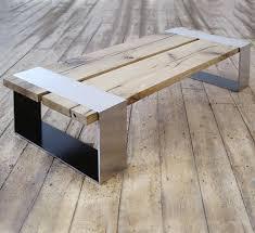 stainless steel furniture designs. Stanley - Stainless Steel \u0026 Reclaimed Oak Coffee Table Furniture Designs A