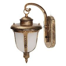 image of antique brass outside light fixtures