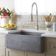 White Apron Kitchen Sink Farmhouse 3018 Kitchen Sink In Nativestone An Eco Friendly Mix Of