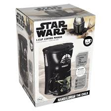 Disposable coffee filters 360 counts coffee filter paper for keurig brewers single serve 1.0 and 2.0 use with all brands k cup filter (1). Star Wars Mandalorian Single Cup Coffee Maker With Mug Uncanny Brands