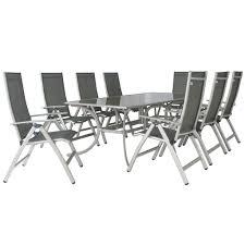 Leisuregrow gold coast 210 x 109cm rectangular 8 seater recliner garde garden trends