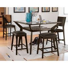 Dining Table With 2 Chairs Mystic Counter Height Table 2 Chairs And 2 Backless Stools