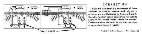 lionel trains 153 block signal accessory correction form no 1312