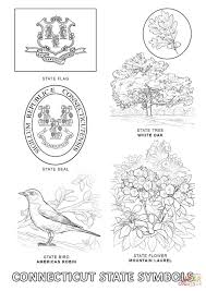 Small Picture Connecticut State Symbols coloring page Free Printable Coloring