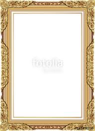 frame border design. Modren Frame Gold Photo Frame With Corner Line Floral For Picture Vector Design  Decoration Pattern Style For Frame Border Design