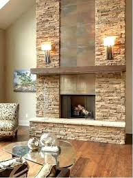 stacked stone fireplace pictures dry stack veneer designs