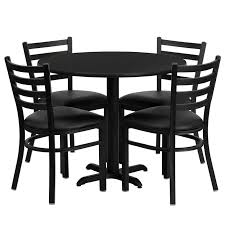 cafe restaurant table chair set 36 round table 4 chairs