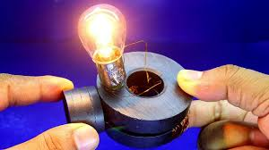 Magnet Copper Wire Light Bulb Experiment Copper Wire Generator With 12v Light Bulb Free Energy Magnet Light Bulb