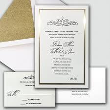 Invitations Formal Golden Touch Wedding Invitations