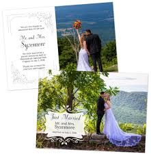 Announcement Cards Wedding Elopement And Small Wedding Announcement Cards