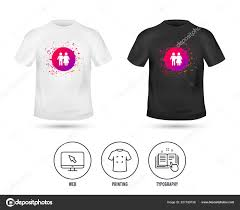 Family Shirt Design Template Shirt Mock Template Couple Icon Young Family Symbol Family