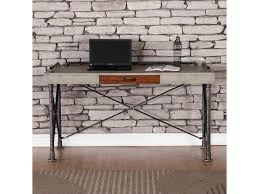 Legends Furniture Steampunk Collection ZSPK-6001 Steampunk Writing Desk  with Faux Concrete Top | Hudson's Furniture | Table Desks/Writing Desks