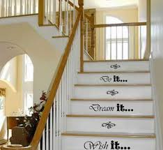 Best 25  Stenciled stairs ideas only on Pinterest   Painted stairs besides Decorating Stair Risers   Houzz likewise 31 Brilliant Stairs Decals Ideas   Inspiration in addition 91 best Stair Risers Decorating Ideas images on Pinterest   Stairs also Stair Risers   Treads   ARCHITECTURAL GRILLE   Guardrail and Stair also Decorating Stair risers   Imagine the illusion of a waterfall as well Decorative Stair Risers With Designs For All Tastes furthermore Stair Riser Decoration Ideas   a more decor in addition  additionally  together with Amazon Best Sellers  Best Staircase Step Treads. on decorative stair risers ideas