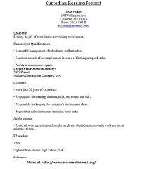 resume for custodian custodian resumeexamples samples free edit