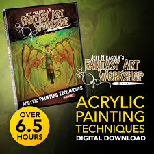 jeff miracola s fantasy art work acrylic painting techniques discs 1 4 complete bundle