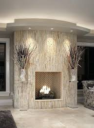 stacked stone fireplace surround kits installing tile wrapped vertical lights veneer diy