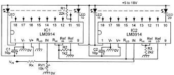 led graph circuits nuts volts magazine for the electronics dot mode 20 led voltmeter fsd 2 4v when rx 0