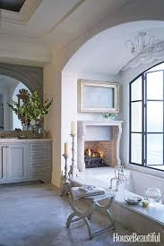 house beautiful master bathrooms. Bathroom With Fireplace House Beautiful Master Bathrooms N