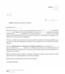 Formato De Cartas De Peticion Solicitud De Excedencia Voluntaria Modelo Word Y Pdf