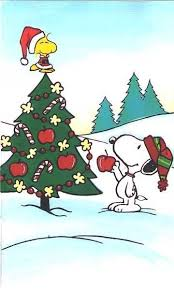 Woodstock and Snoopy decorating their Christmas tree! Next year I plan on  having Charlie Brown Christmas tree!~ It is simple and easy to take down  after ...