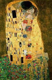 Gustav Kilmt, The Kiss, oi and gold leaf on canvas, 1907-08