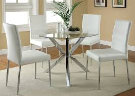 Glass top dining sets Rectangle Glass Glass Top Dining Table W4 White Chrome Chairscoaster Furniture Jericho Jerusalem Furniture Jericho Jerusalem Furniture Bronx Ny Glass Top Dining Table W4