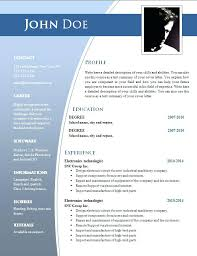 Resume Design Templates Free Adorable Template Free Download Doc Resume Templates Cv Word Verbeco