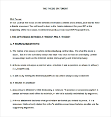 7 Thesis Statement Examples Download In Word Pdf Free Premium