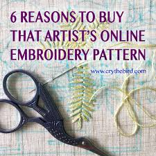Patterns Online Unique 48 Reasons To Buy That Artist's Online Embroidery Pattern Cry The Bird