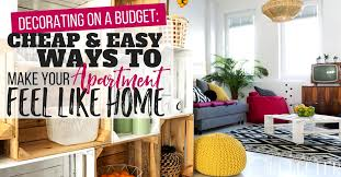 apartment decorating on a budget make