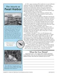 the attack on pearl harbor th grade reading comprehension worksheet the attack on pearl harbor