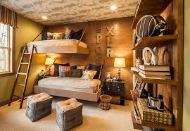 view in gallery space saving beds and brilliant lighting revamp the aura of the rustic bedroom design
