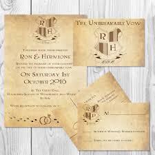 harry potter wedding invitation set digital serena s designs