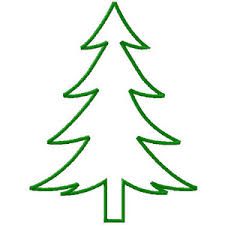 Simple Christmas Trees Wonderful Machine Embroidery Design in 4 Sizes