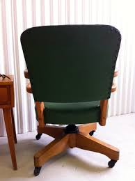 mid century wood green desk chair