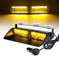 12v Blue Strobe Light Us 19 98 35 Off 16 Led Red Blue Yellow 12v Car Police Strobe Light Dash Emergency Flash Warning Lamp 18 Flashing Modes Safety Signal Lights In