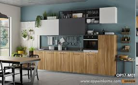 360cm width standard kitchen cabinet with wood grain melamine finish op17 m01