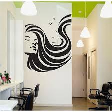 girl face beauty hair salon vinyl wall
