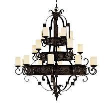 river crest rustic iron twenty light chandelier