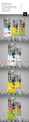 Home Cleaning Roll Up Banner Rollup Banner Banner Template And