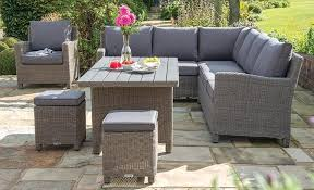 outdoor casual dining set palma corner glass top table ww