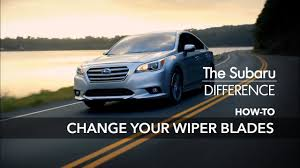 The Subaru Difference How To Change Your Wiper Blades Pinch Tab Button