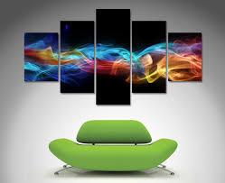 split canvas art on wall art prints australia with fire and ice 5 panel wall art canvas printing australia
