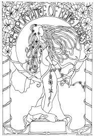 Print Adult Dessin Inspiration Art Nouveau Coloring Pages Color