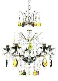 chandeliers colored glass chandelier multi replica